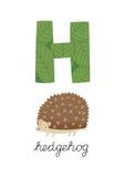 Письмо h Иллюстрация вектора