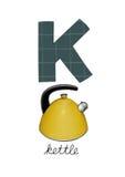Письмо k Иллюстрация вектора