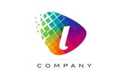 Письмо l красочный дизайн логотипа радуги Стоковые Фотографии RF