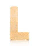 Письмо l одиночного прописного блока деревянное Стоковые Фотографии RF