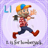 Письмо l для lumberjack Стоковые Фото