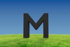 Письмо m на злаковике иллюстрация вектора