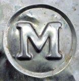 письмо m Стоковое Изображение