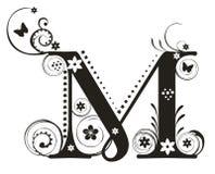 письмо m Стоковое Фото