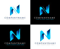 Письмо n логотипа дела Стоковые Фото