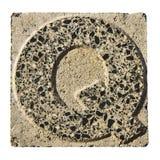 Письмо o высекаенное в бетонной плите Стоковое Изображение