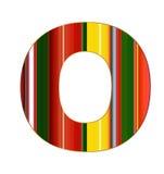 Письмо o в красочных линиях на белой предпосылке Стоковые Фотографии RF