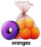Письмо o для апельсинов Стоковые Изображения RF