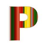 Письмо p в красочных линиях на белой предпосылке Стоковые Фото