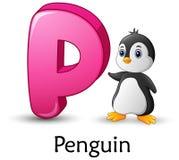 Письмо p для алфавита шаржа пингвина бесплатная иллюстрация
