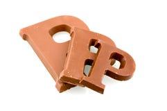 письмо p шоколада различное определяет размер 3 Стоковое фото RF