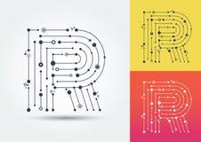 Письмо r вектора Изолированный и editable характер в стиле бесплатная иллюстрация