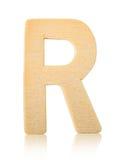 Письмо r одиночного прописного блока деревянное Стоковые Фотографии RF