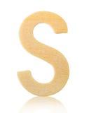 Письмо s одиночного прописного блока деревянное Стоковые Фотографии RF