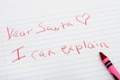 письмо santa к Стоковые Фотографии RF