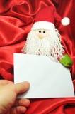 письмо santa к Стоковая Фотография