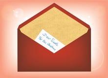 письмо santa к Стоковые Изображения