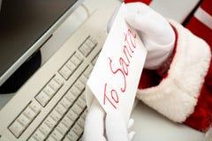 письмо santa к Стоковое фото RF