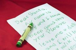 письмо santa к Стоковое Изображение