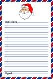 письмо santa к Стоковое Фото