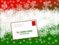 письмо santa рождества к стоковые изображения