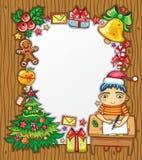 письмо santa 3 claus к Стоковые Фото
