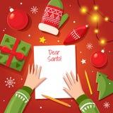 письмо santa claus к Стоковая Фотография