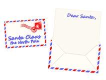 письмо santa claus рождества, котор нужно vector Стоковое фото RF