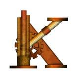 Письмо Steampunk изолированное на белом векторе Стоковые Фотографии RF