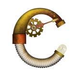 Письмо Steampunk изолированное на белом векторе Стоковое Изображение RF