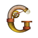 Письмо Steampunk изолированное на белом векторе Стоковые Изображения RF
