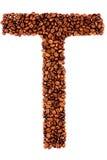 письмо t coffe стоковые фотографии rf