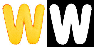 Письмо w от войлока Стоковые Фотографии RF