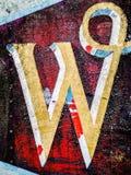 письмо w стоковое изображение