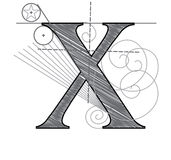 письмо x Стоковое Фото
