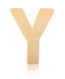 Письмо y одиночного прописного блока деревянное Стоковое Изображение