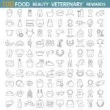 Питание бобра Магазин Veterenary Вознаграждения и медали выравнивают набор значков бесплатная иллюстрация
