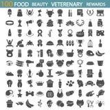 Питание бобра Магазин Veterenary Набор значков вознаграждениями и медалями простой бесплатная иллюстрация