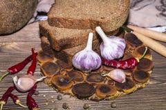 Питание продукты изображения конструкции хлебопекарни Rye отрезало испеченное домодельное острословие свежего хлеба стоковые изображения