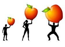 питание удерживания семьи яблок