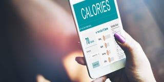 Питания еды калории концепции тренировки Стоковые Изображения RF