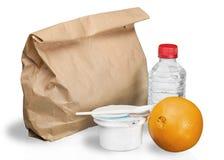 Питательный обед в изолированной сумке Брайна - Стоковое Фото
