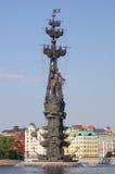 Питер большой памятник в Москва, России Стоковое Изображение RF