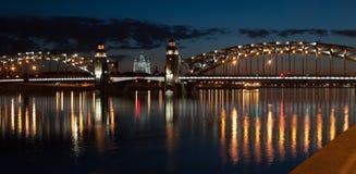 Питер большой мост Стоковое фото RF