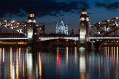 Питер большой мост Стоковые Изображения RF