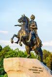Питер большой памятник (бронзовый наездник) Стоковое Изображение RF