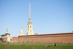 Питер и крепость Паыля Стоковая Фотография RF