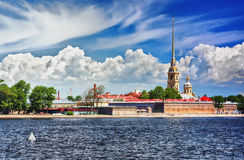 Питер и крепость Пола, Санкт-Петербург Стоковая Фотография