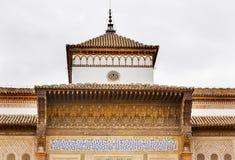 Питер Alcazar башни мозаики дворца замков королевского Стоковые Изображения