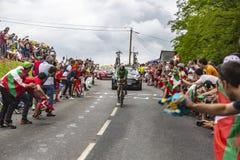 Питер Sagan в зеленых Джерси - Тур-де-Франс 2018 Стоковое фото RF